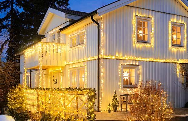 Julbelysning utomhus skräddarsydd