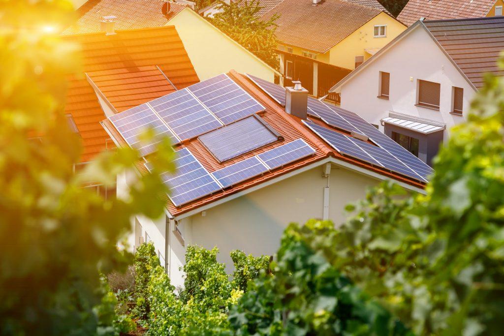 Cellules solaires pour les maisons